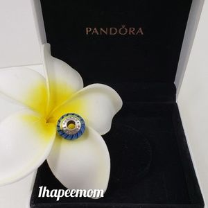 Authentic Pandora Blue Murano Charm
